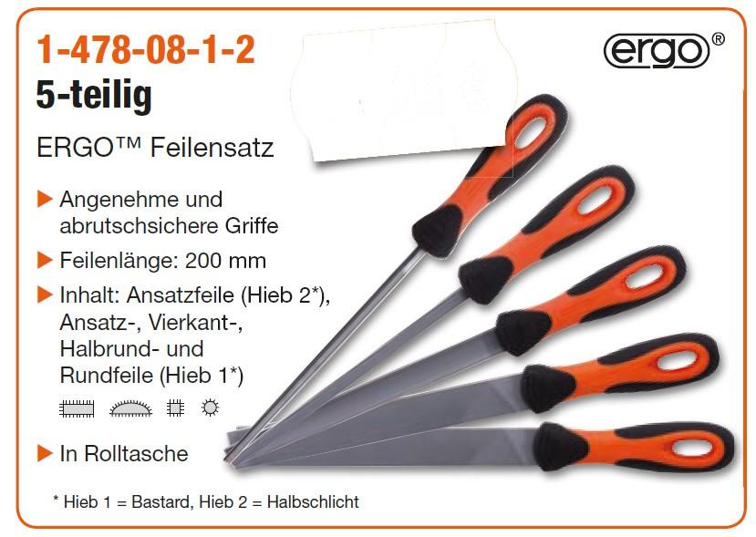 BAHCO Feilensatz 1-478-08-1-2 5-teilig