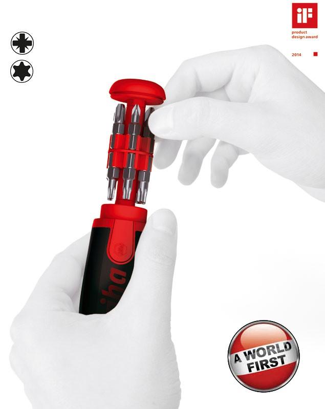 "Wiha Magazin-Bithalter LiftUp 25, magnetisch 1/4"", 12-tlg. PZ/Torx"