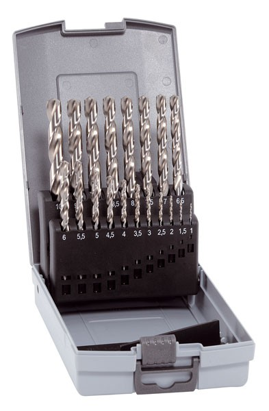 HSS Cobalt KP 19, 19-tlg. Kunststoffkassette