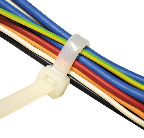 Kabelbinder Natur Breite 3,5 mm Länge 140 - 360 mm (Pro Verpackung 100 Stück)